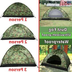 Outdoor Camping Waterproof 4Season Folding Tent Camouflage H