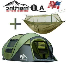 Outdoor Portable Hammock+4 Person Camping Tent Dome Instant