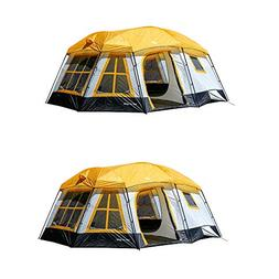Tahoe Gear Ozark 16-Person 3-Season Cabin Tent, Orange | TGT