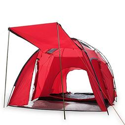 Wnnideo 6 Person Family Cabin Tent 2 Rooms 5000MM Waterproof