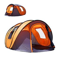 CbMoun XL Pop Up Tents Camping 4-6 Person Tent Sky-Window In