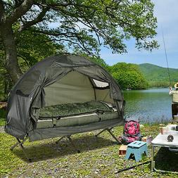 New Outsunny Single Portable Camping Tent Bed Cot w/Sleeping
