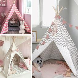 🎪Teepee Tent for Kids 100% Cotton Indian Wigwams Outdoor