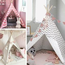 🎪Teepee Tent for Kids Playtent Cotton Wigwam Outdoor Toy