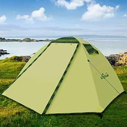 Campla Tent Camping Outdoors,Backpacking Tents LED Fit 2 3 P