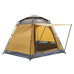 ZUMIT Tent for Camping 3-5 Person Waterproof Dome Shelter Fa