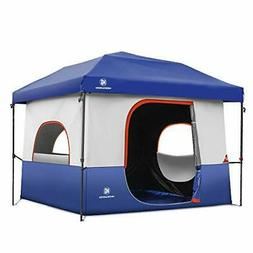 Tents-for-Camping-5-Person, Dark Room Cube Tent, Pop up 10x1