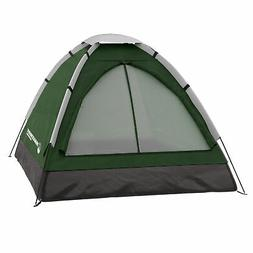 two person 2 man green tent carry