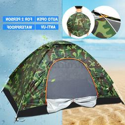 US 2-3 Person Camping Tent Outdoor Camouflage Auto Folding W