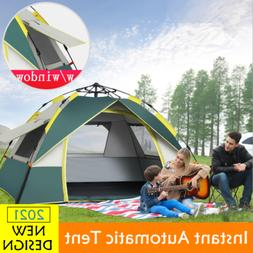 US 3-4 Person Automatic Pop-Up Outdoor Tent Camping Backpack