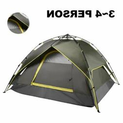 Waterproof 3-4Person Hiking Camping Hydraulic Automatic Inst