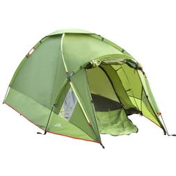 MoKo Waterproof Camping Tent, Double Layer 3 Person 4 Season