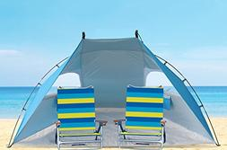 9ft Wide Extra Roomy,Easy Set Up Portable Sun Shelter Family