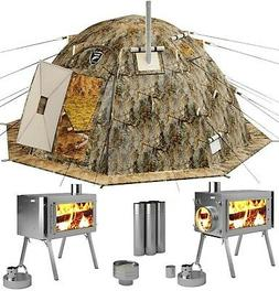 Winter Tent with Stove. 4 Season Outfitter Hunting Expeditio