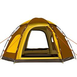 Yongtong Backpacking Tent, Big Size 4-6 person Double Layer